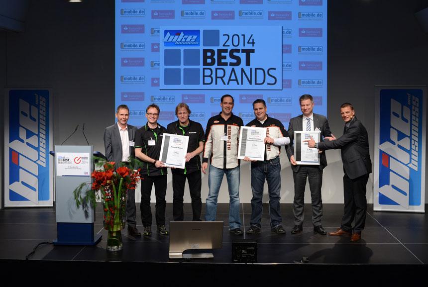 """Auszeichnung des Fachmagazins """"bike und business"""""""