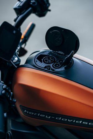 Harley Davidson LiveWire Orange Denim