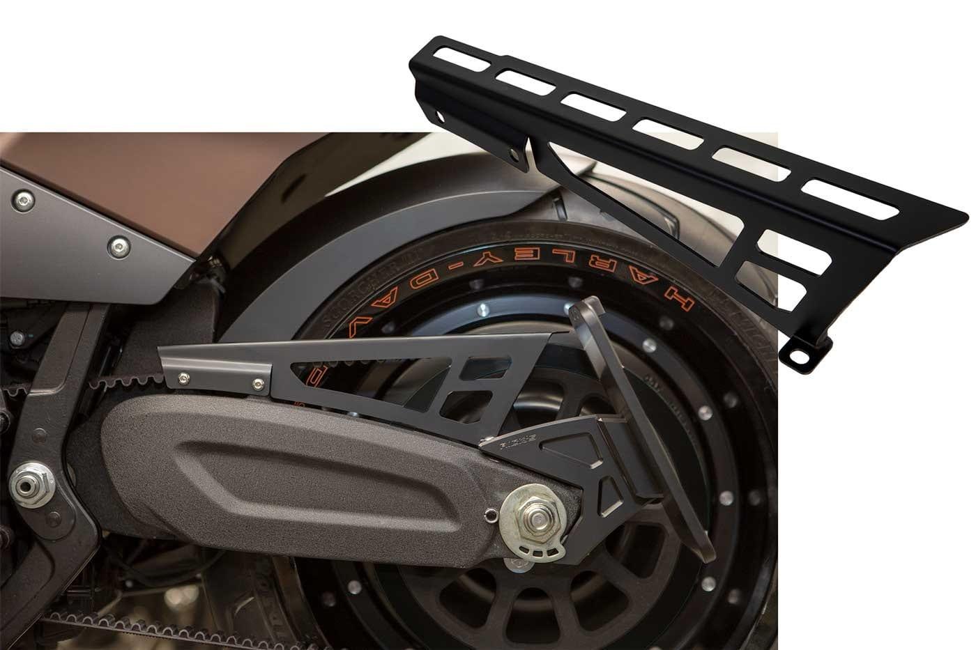 Beltschutz Riemenabdeckung für Harley-Davidson Sportster 00-03 Schwarz