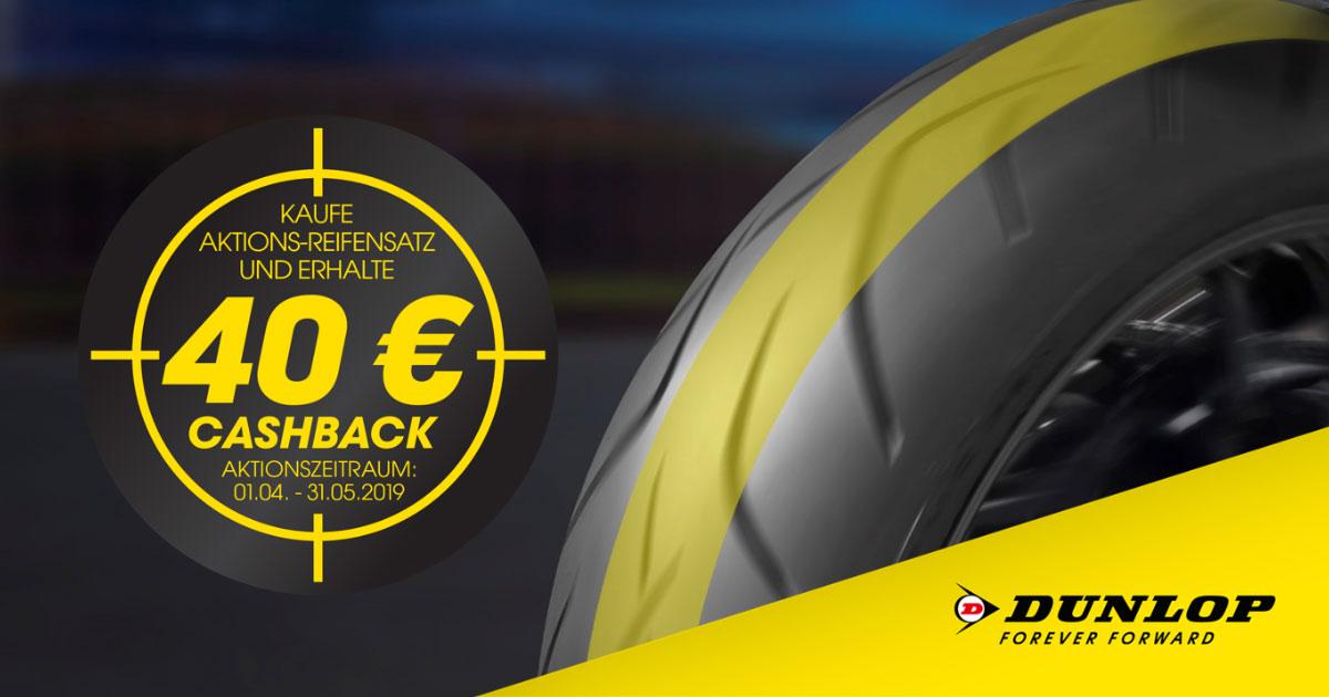 Dunlop Motorrad startet 40 € Cashback-Aktion 2019 1