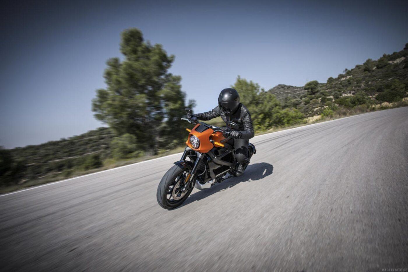 Harley-Davidson LiveWire sportliche Fahrt