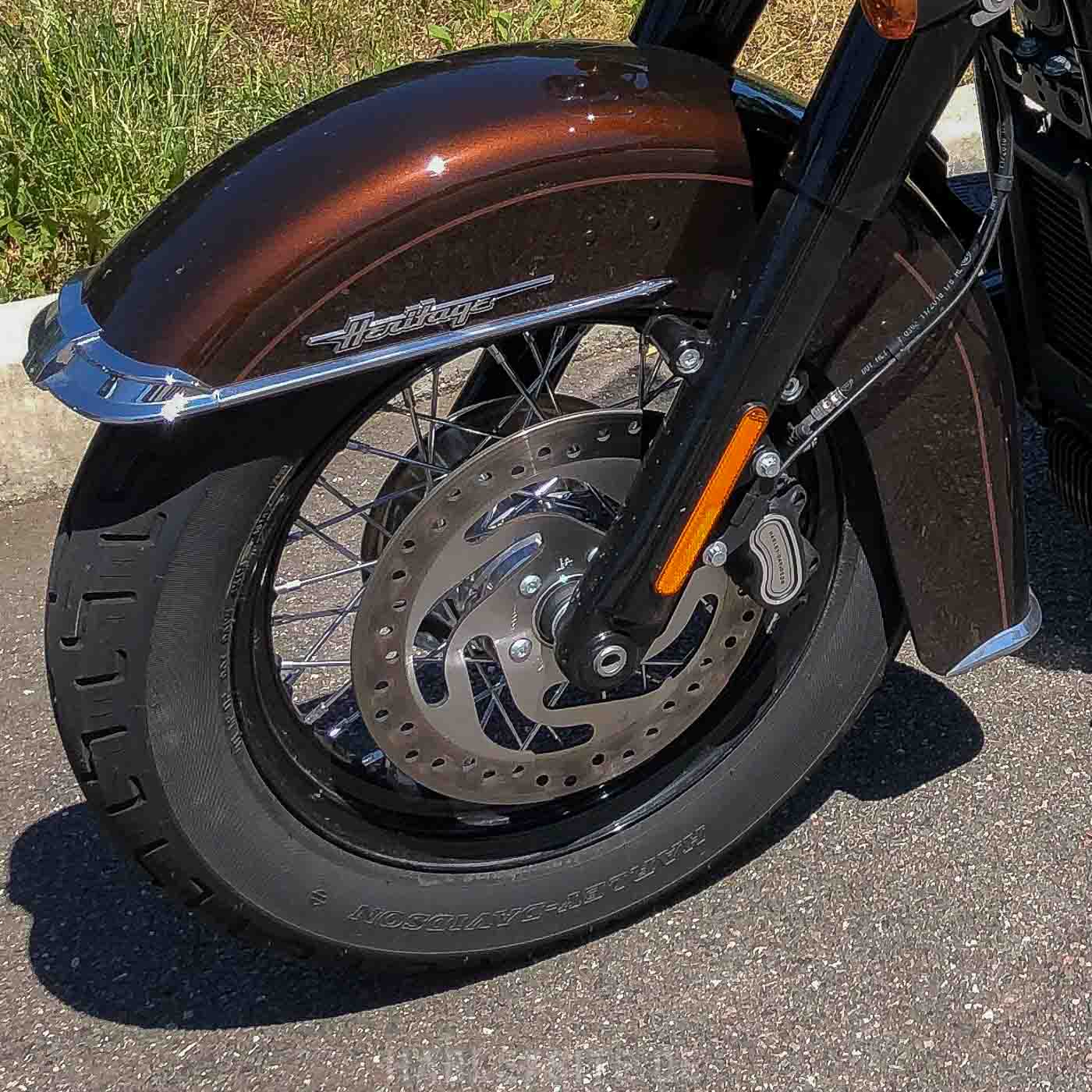 Scheibenbremse Der Harley-Davidson Heritage Classic 114 2019