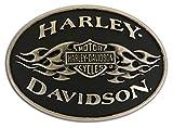 HARLEY-DAVIDSON Unisex Gürtelschnalle Gürtelverschluss Relief Gebürstet Chrom Bar & Shield