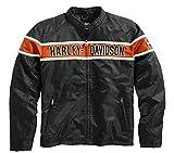 HARLEY-DAVIDSON Herren Jacke Generations Casual Outdoor Freizeitjacke Funktionsjacke für Männer Schwarz Orange, XL