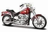 1984 Harley Davidson FXST Softail [Maisto 34360-35], Rot, 1:18 Die...