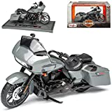 Harley Davidson 2018 CVO Road Glide Grau 1/18 Maisto Modell Motorrad
