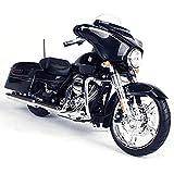 2015 Harley Davidson Street Glide Black Motorcycle Model 1/12 by Maisto 32328 by Harley-Davidson