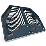 Presch Innensechskant Satz HX 30 tlg. Metrisch und Zoll - Innensechskantschlüssel Set kompakt mit Box - Sechskantschlüssel Set