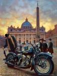 Limitierter Kunstdruck zum 110. Geburtstag von Harley-Davidson in Rom