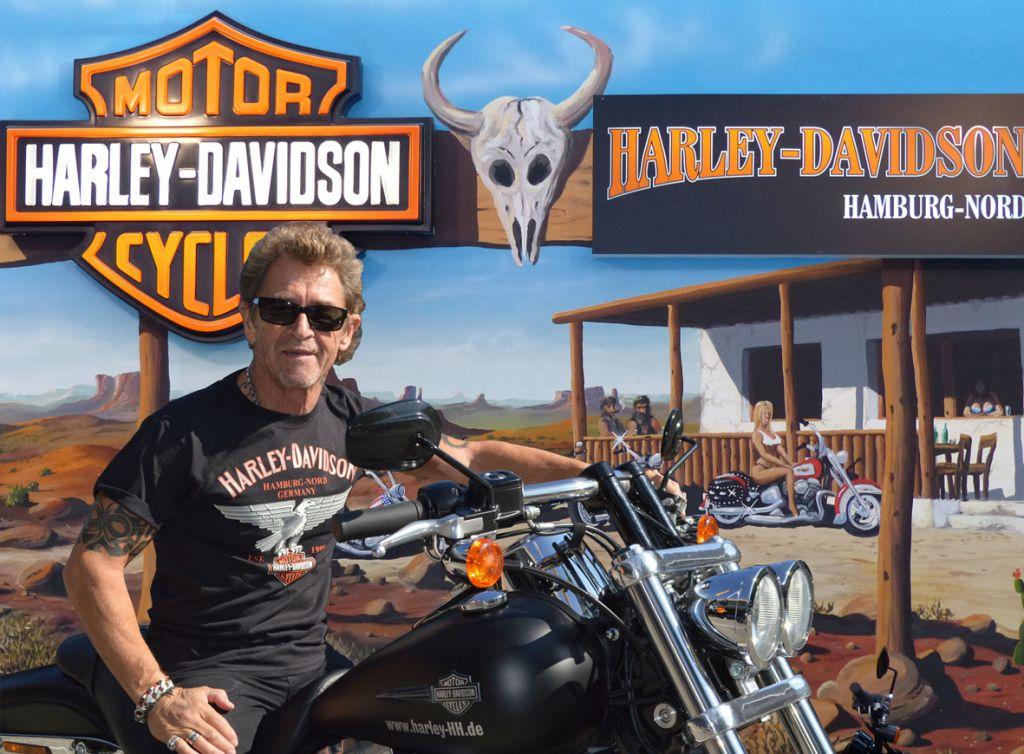 Peter Maffay bei Harley-Davidson in Hamburg