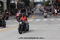 Vom 29. August bis 1. September feierte Milwaukee  110 Jahre Harley-Davidson und 30 Jahre Harley Owners Group