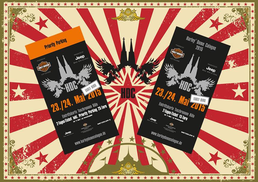 Harley-Dome Early Birds Tickets für 2015