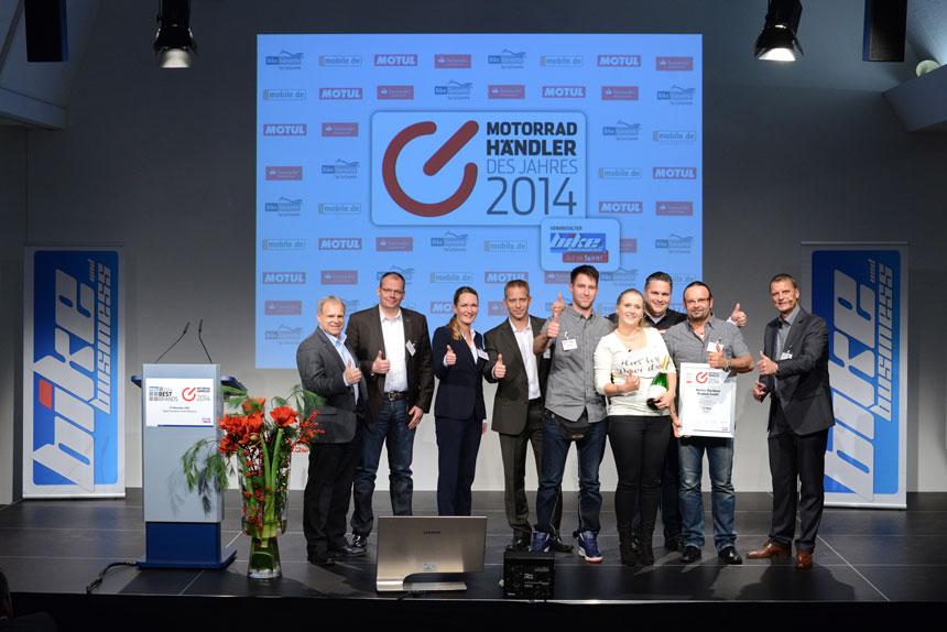 """Auszeichnungen des Fachmagazins """"bike und business"""" gehen 2014 an Harley-Davidson"""