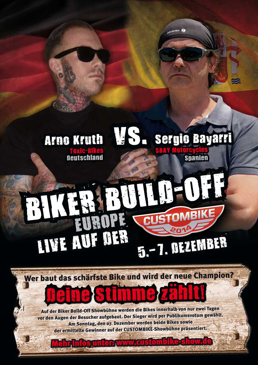 CUSTOMBIKE-SHOW Biker-Build-OFF mit Arno Kruth & Sergio Bayarri