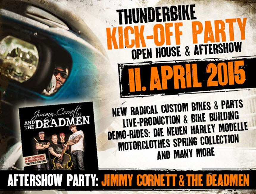 Open House bei Thunderbike am 11. April 2015