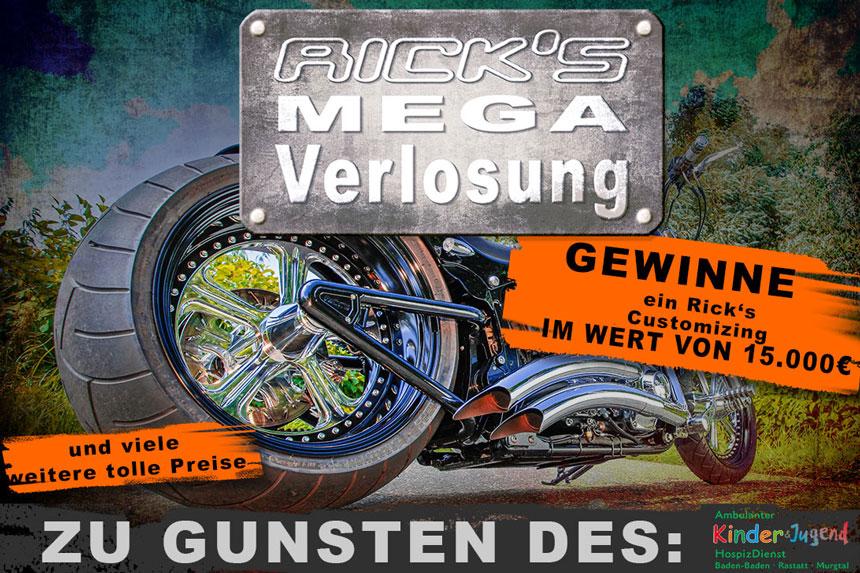 Customizing für 15.000 Euro bei Rick's Motorcycles zu gewinnen
