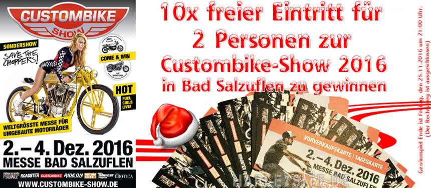 10x freier Eintritt für 2 Personen zur Custombike-Show Bad Salzuflen zu gewinnen