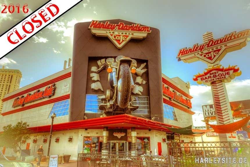 Las Vegas - Das Harley-Davidson Cafe ist geschlossen.