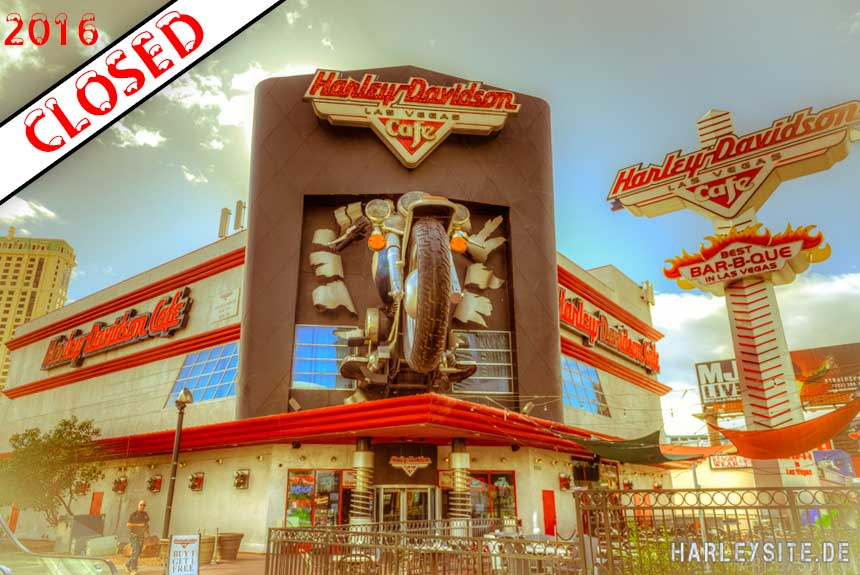 Das Ende einer Ära in Las Vegas – Das Harley-Davidson Cafe ist geschlossen.