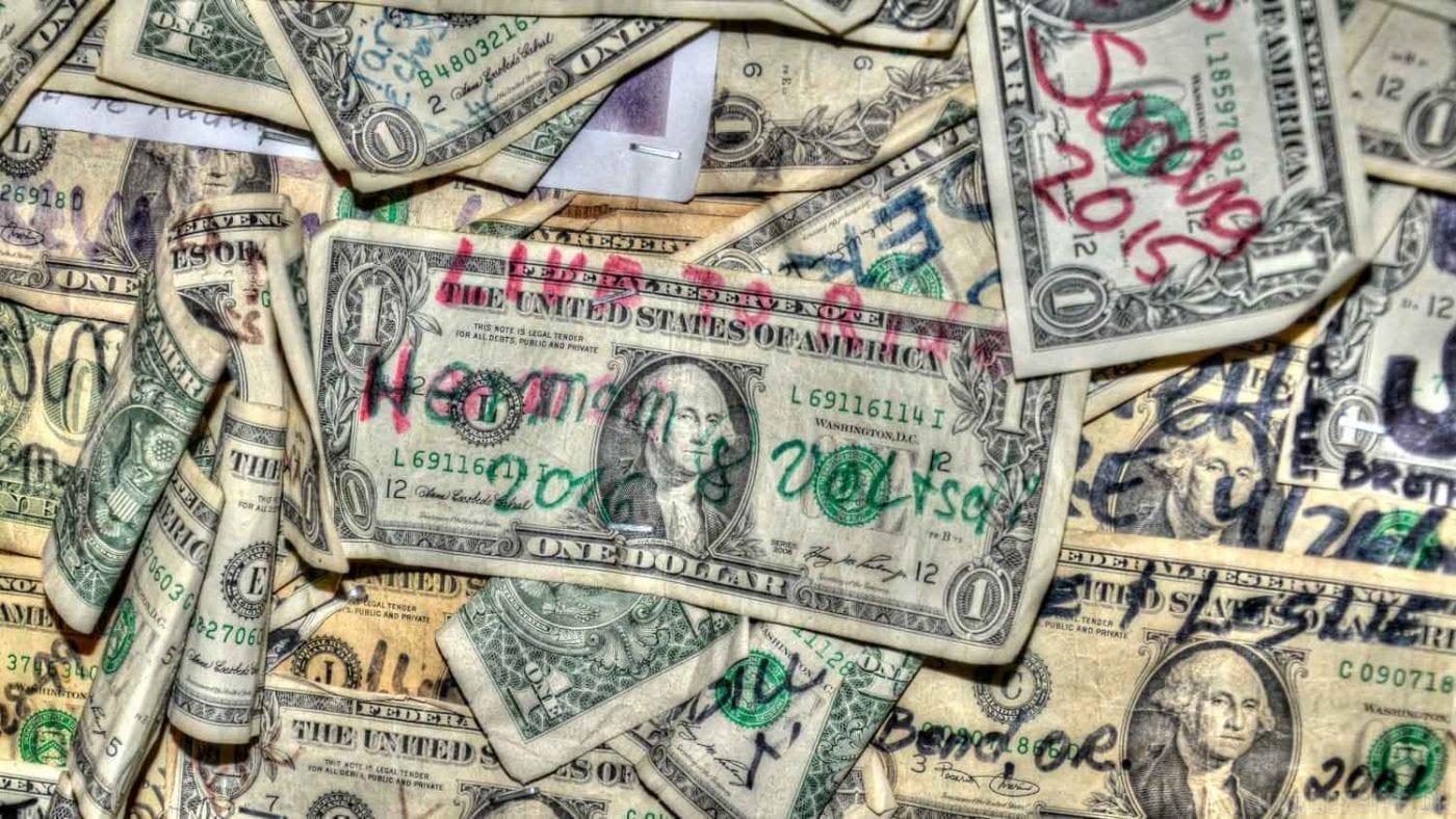 Hermann und Volkers Dollar im Oatman City Salloon