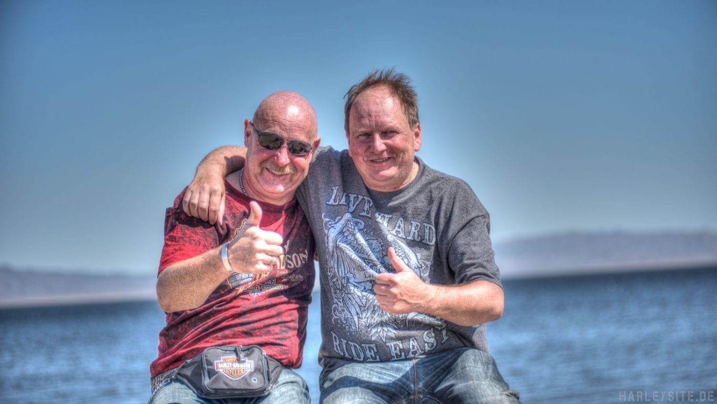Wir genießen unsere Traum Tour am Salton Sea