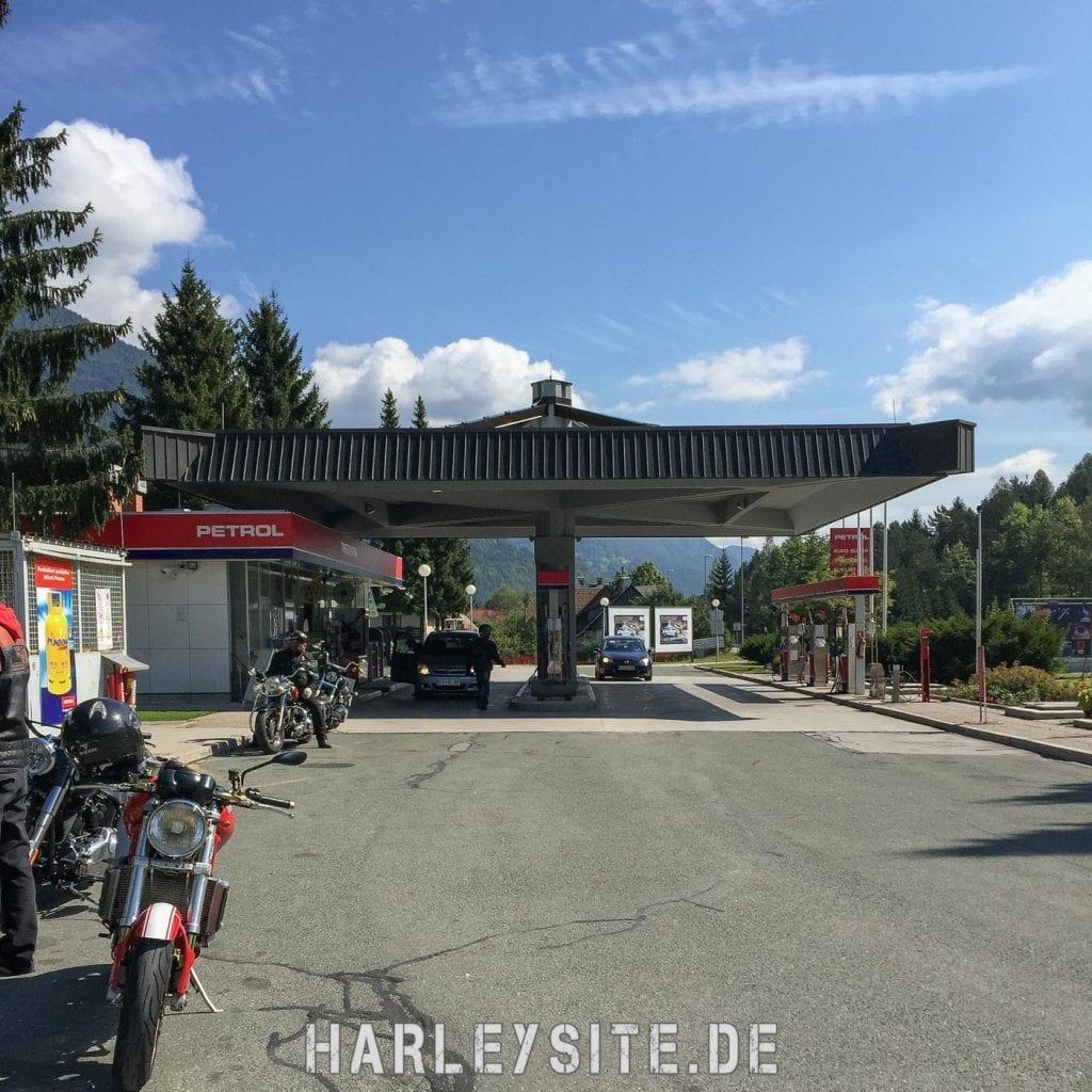 Tankstelle in Slovenien