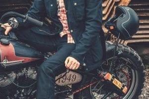 Die Revolutionäre einlagige Rokkertech Motorradjeans