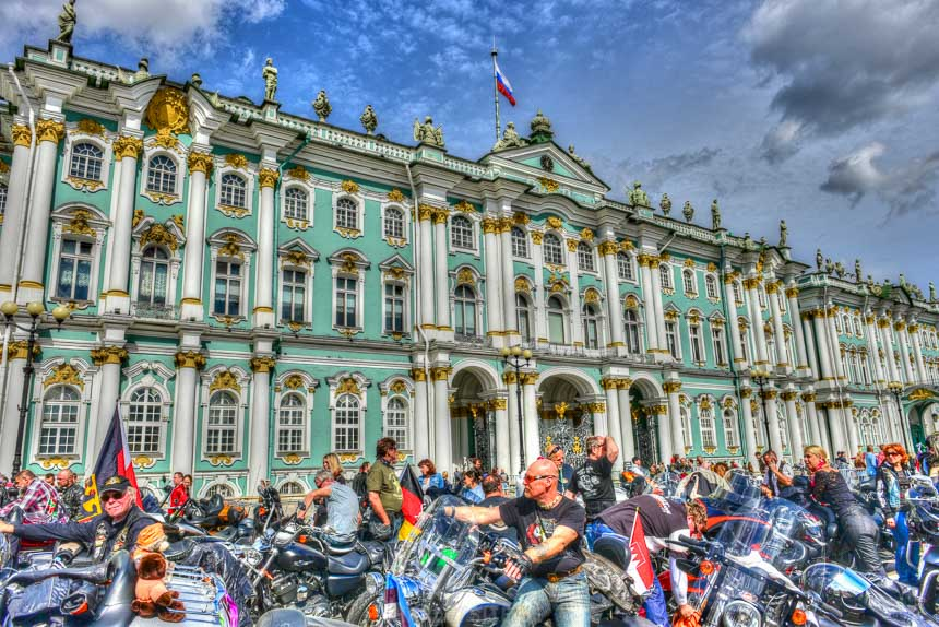 Harley-Davidson Parade auf den Harley Days in St. Petersburg