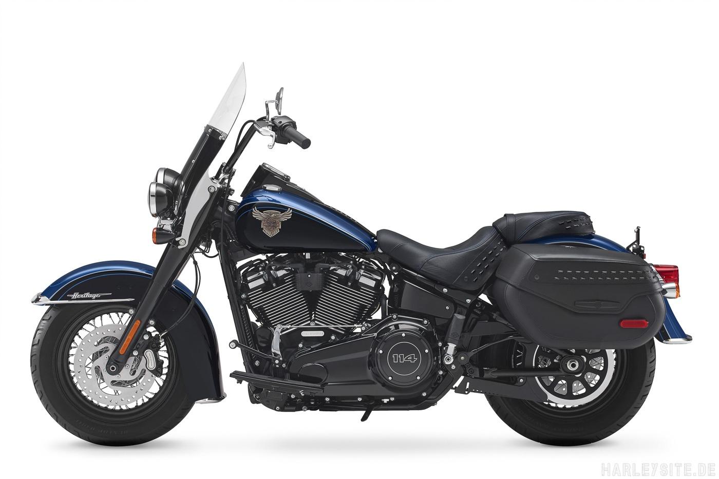 Harley-Davidson 115th Anniversary Heritage Classic 114 Seitenansicht von links