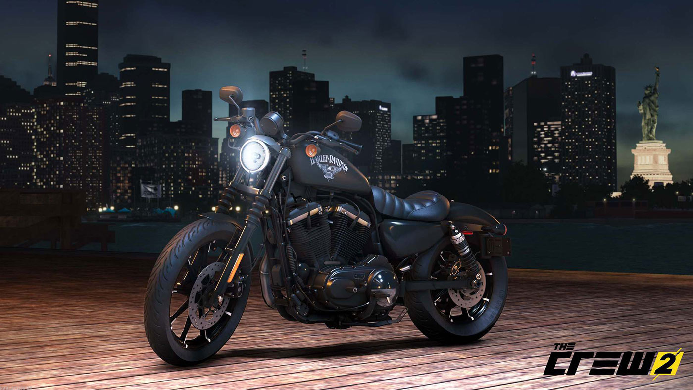 Harley-Davidson Iron 883 and The Crew 2