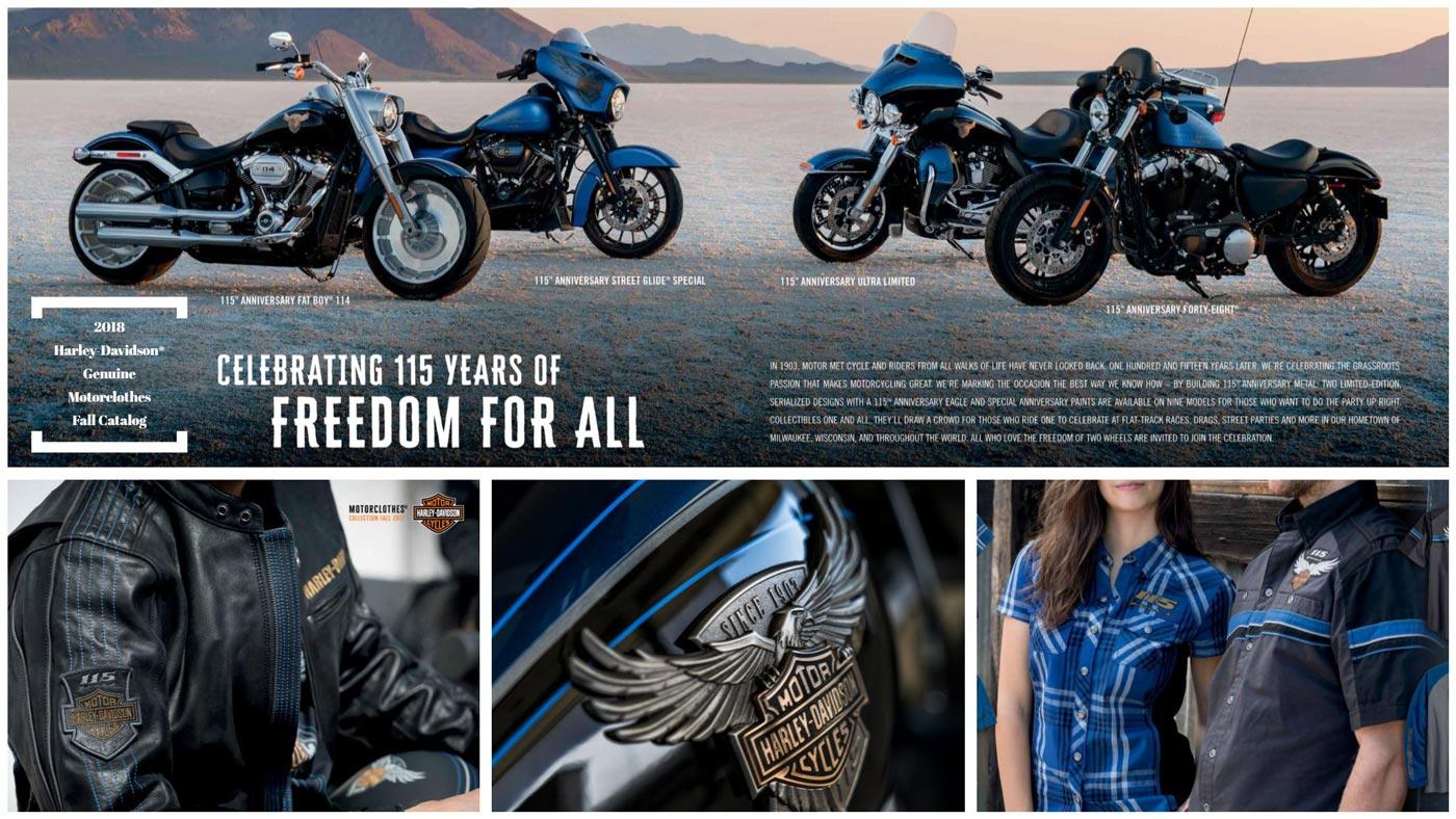2018 Harley-Davidson® Genuine Motorclothes Herbst Katalog