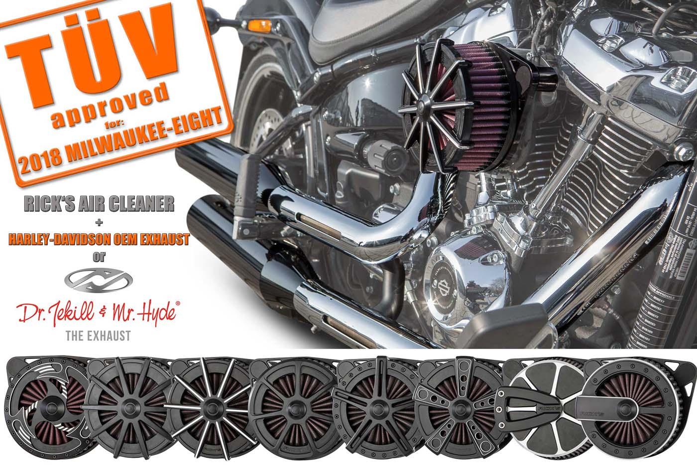 Rick's Luftfilter für 2018er Modelle mit TÜV