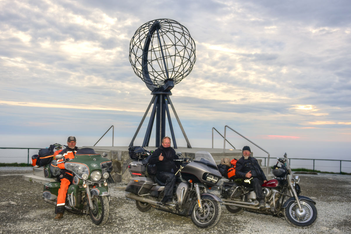 Nordkap Motorradtour Harley Davidson