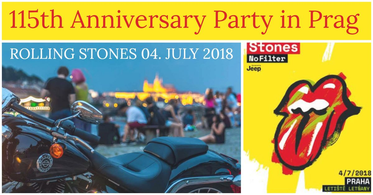 Rolling Stones spielen am 4. July in Prag zum 115th Anniversary Auftakt