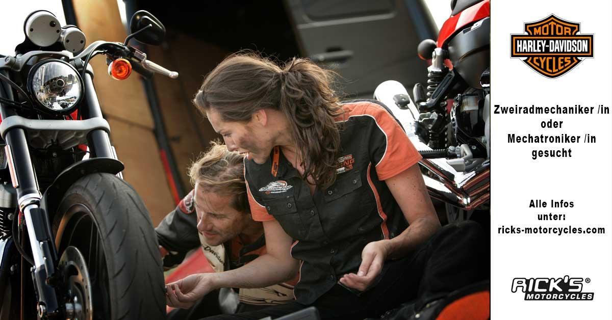 Rick´s Motorcycles aus Baden-Baden sucht KFZ-Mechaniker oder Mechatroniker