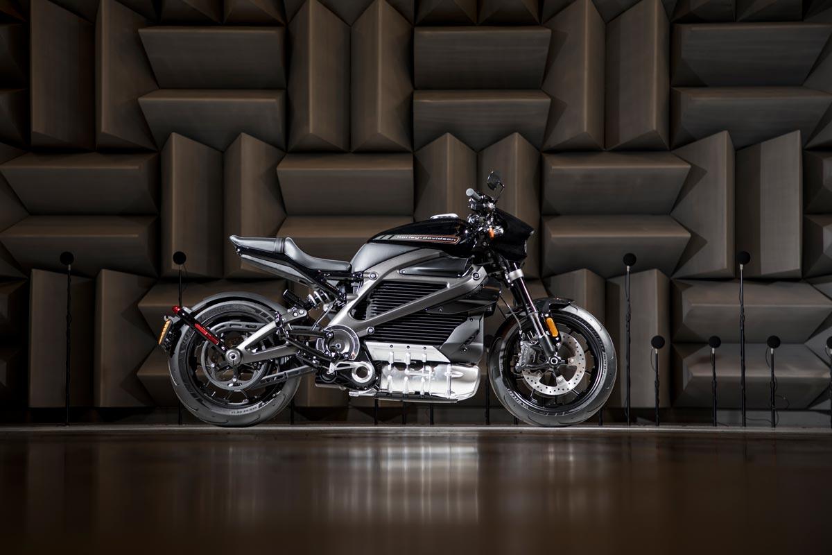 Das Bild zeigt die LiveWire von Harley-Davidson