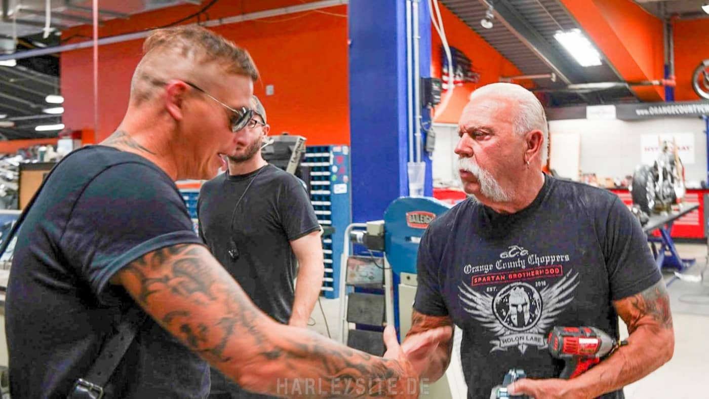 Philipp Burger und Paul Teutul Sr.