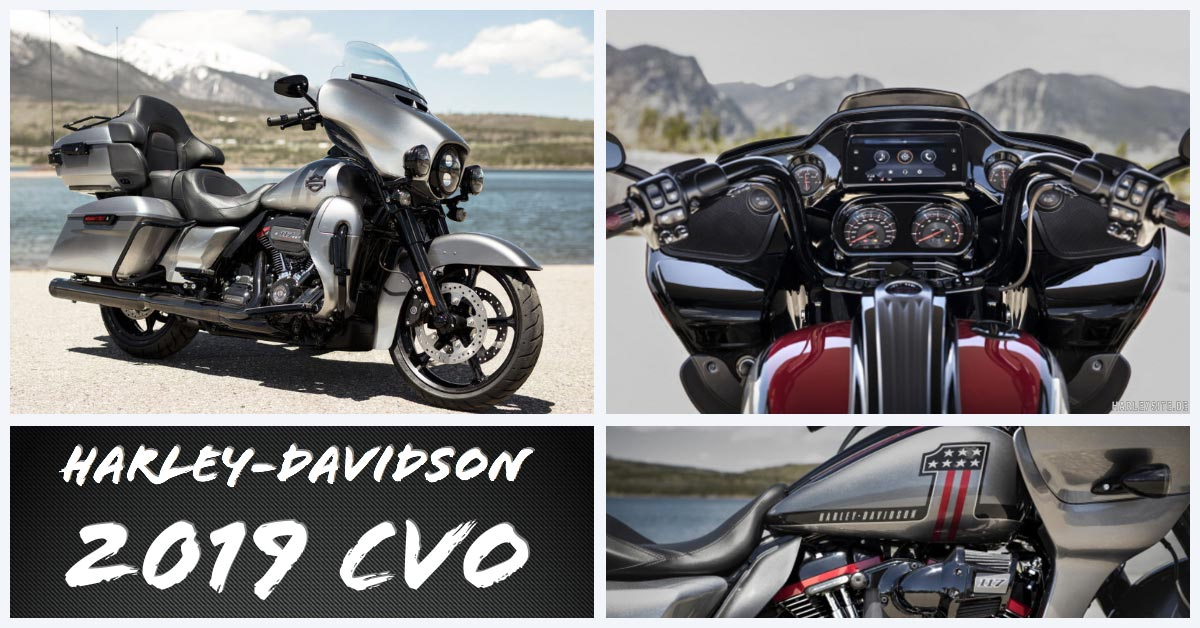 Die Harley-Davidson CVO Touring Modelle 2019