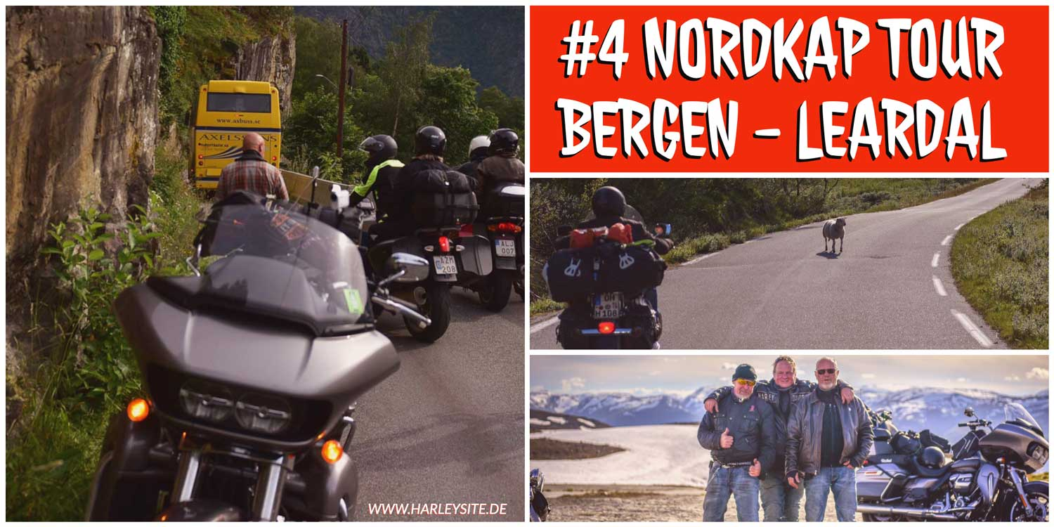 #4 Nordkap Harley Tour - Von Bergen nach Leark in Norwegen