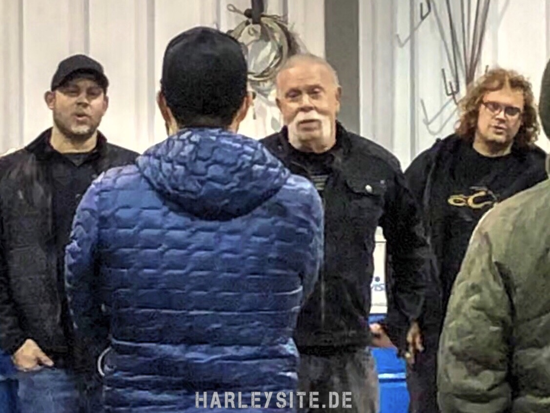 Beim Dreh zur American Chopper Serie mit Paul Sr., Paul Jr., Mikey und Nick