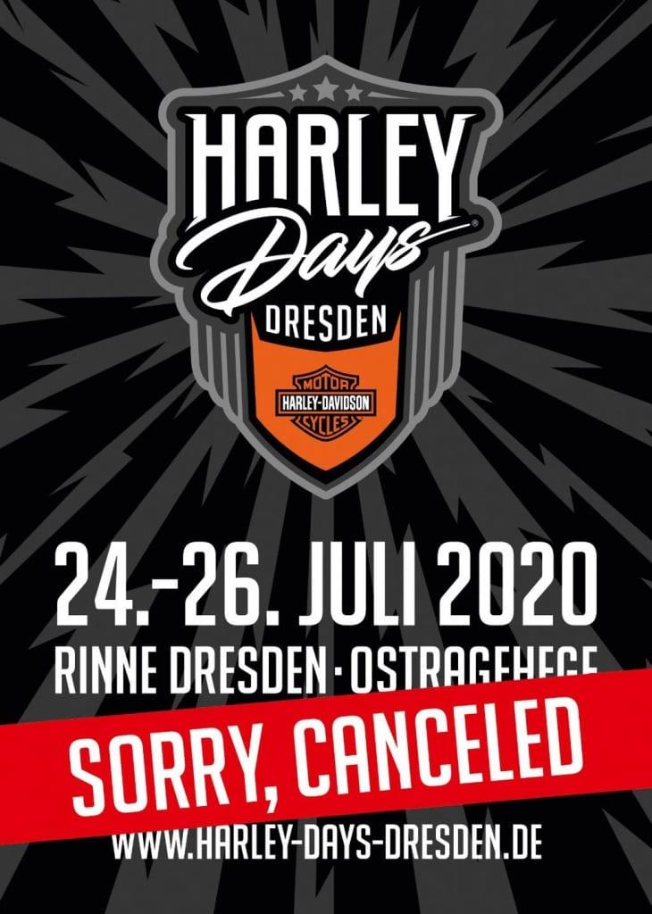 Absage Harley Days Dresden 2020