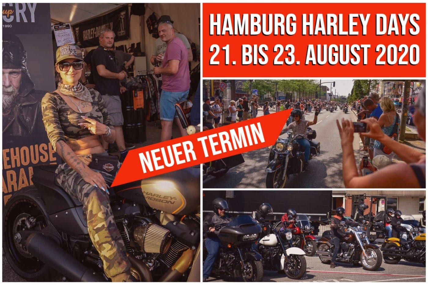 Neuer Termin - Hamburg Harley Days 2020
