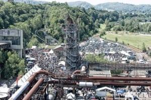 Zeigt das Harley Meeting auf dem Gelände der LWL-Industriemuseum Henrichshütte Hattingen