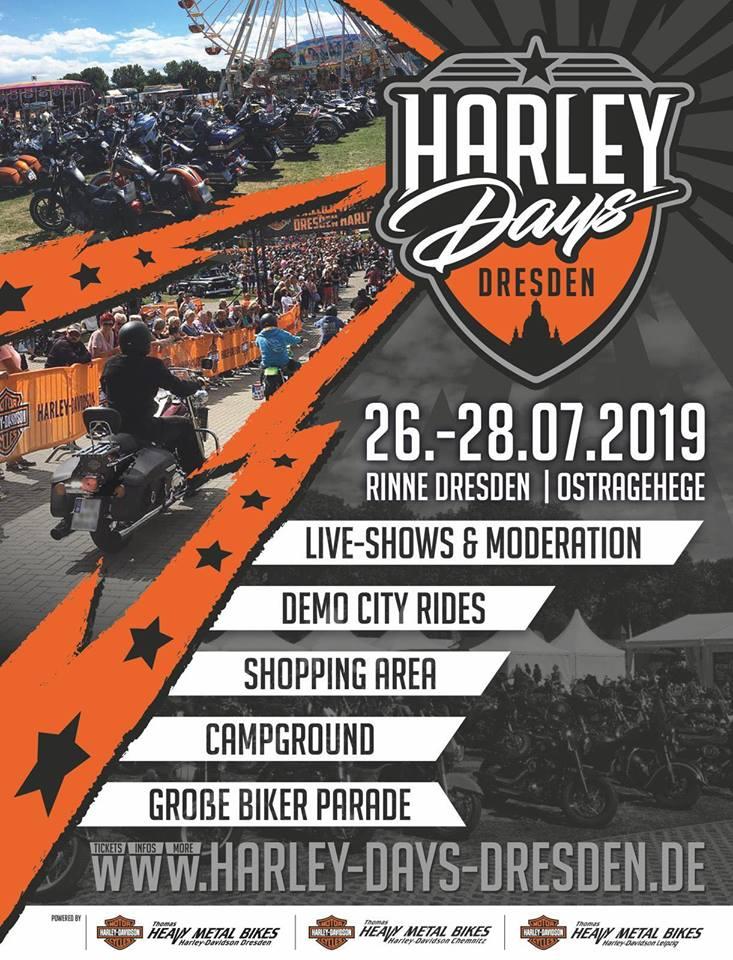 Plakat Harley-Days Dresden 2019