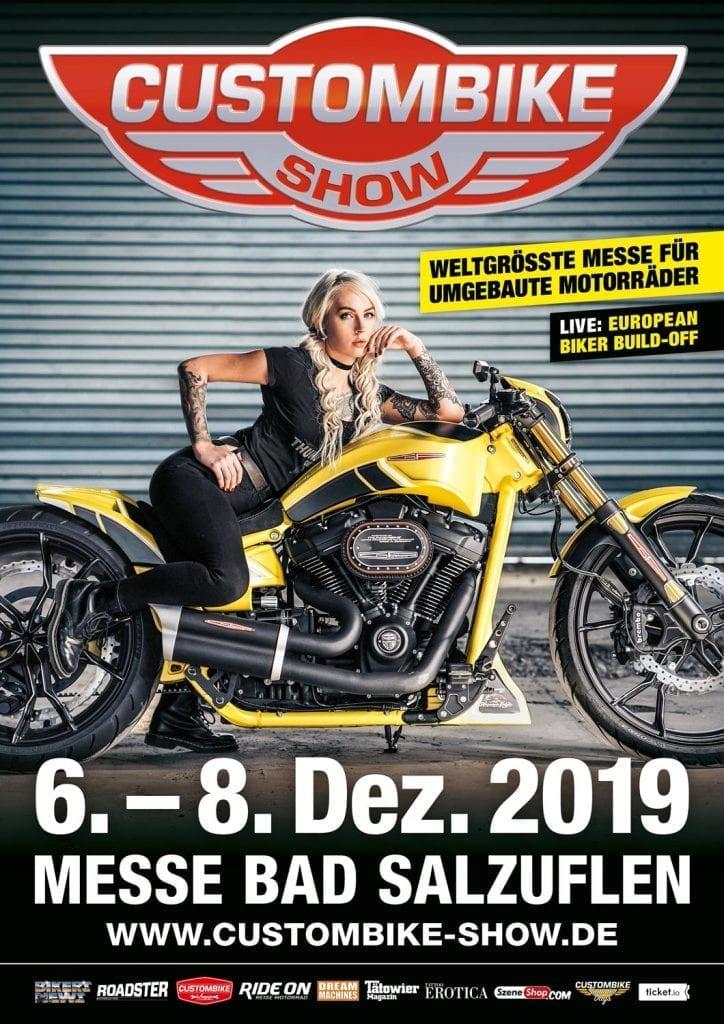 Das Plakat zur Custombike Show 2019