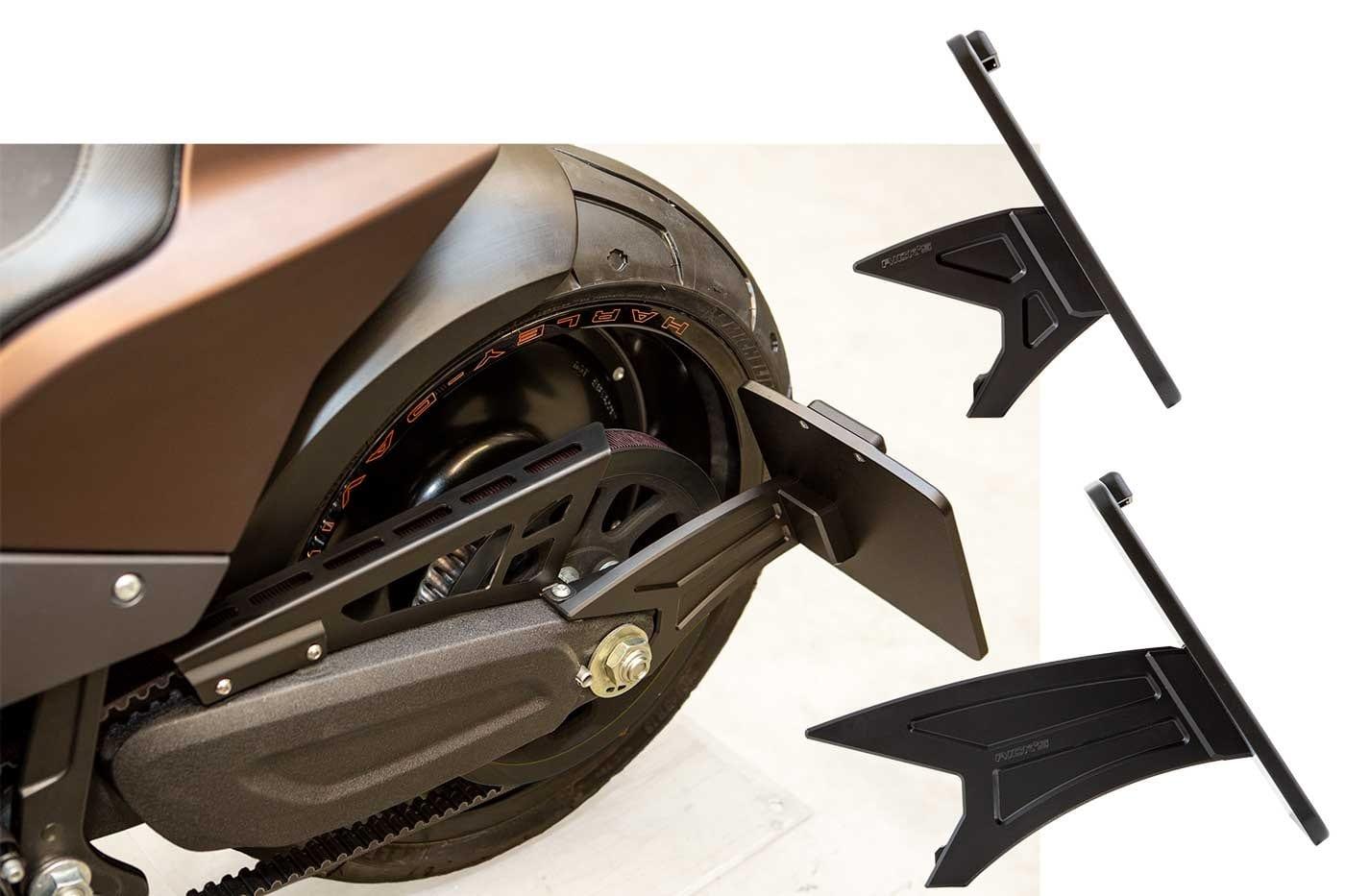 Harley-Davidson FXDR seitlicher,  Kennzeichenhalter