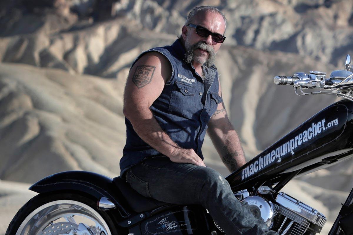 Harley-Davidson Charity-Veranstaltung zugunsten von Sam Childers' Kinderhilfsprojekt