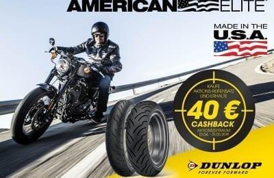 Dunlop Motorrad startet 40 € Cashback-Aktion 2019