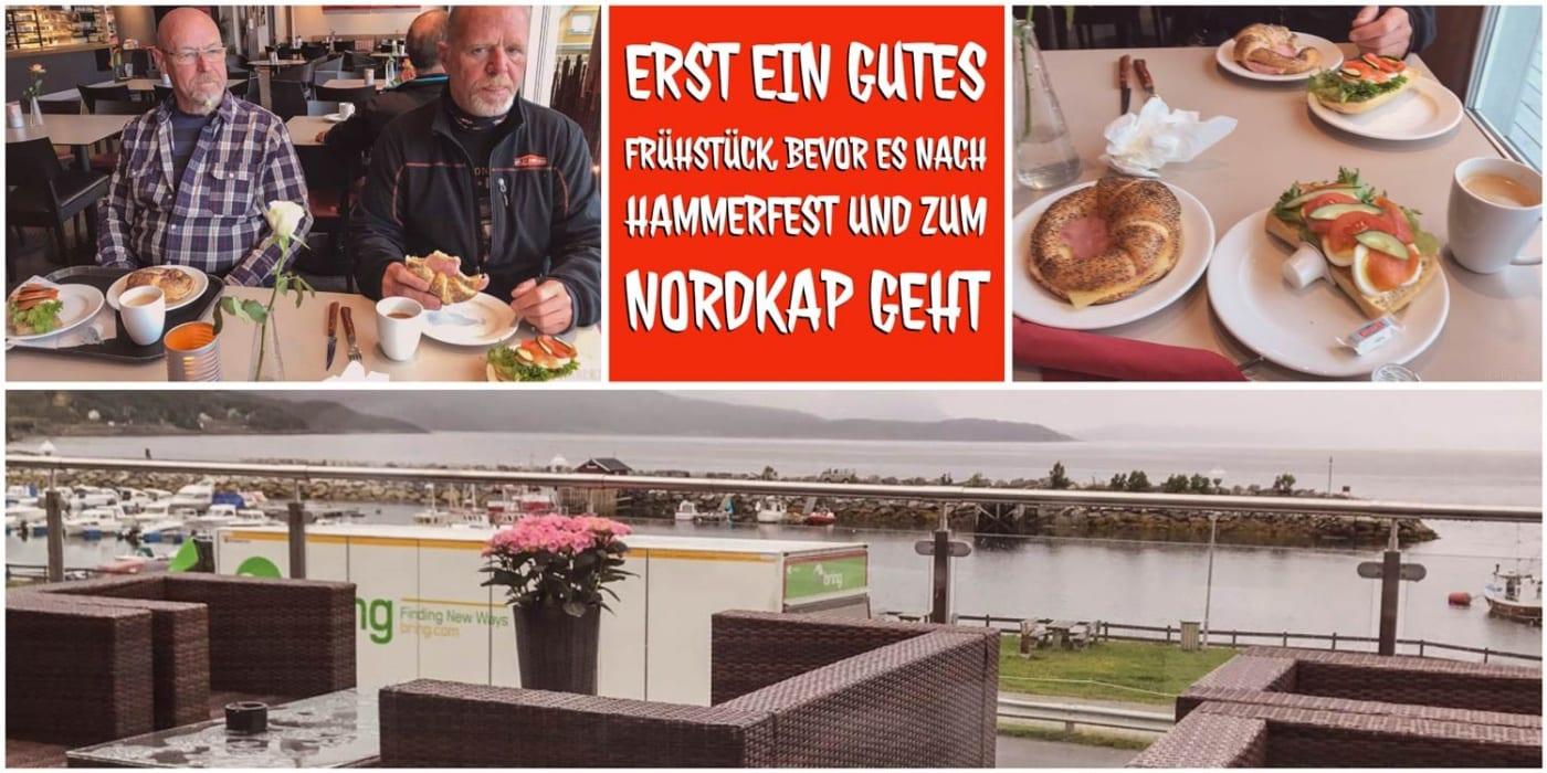 Ein gutes Frühstück in Sørkjosen