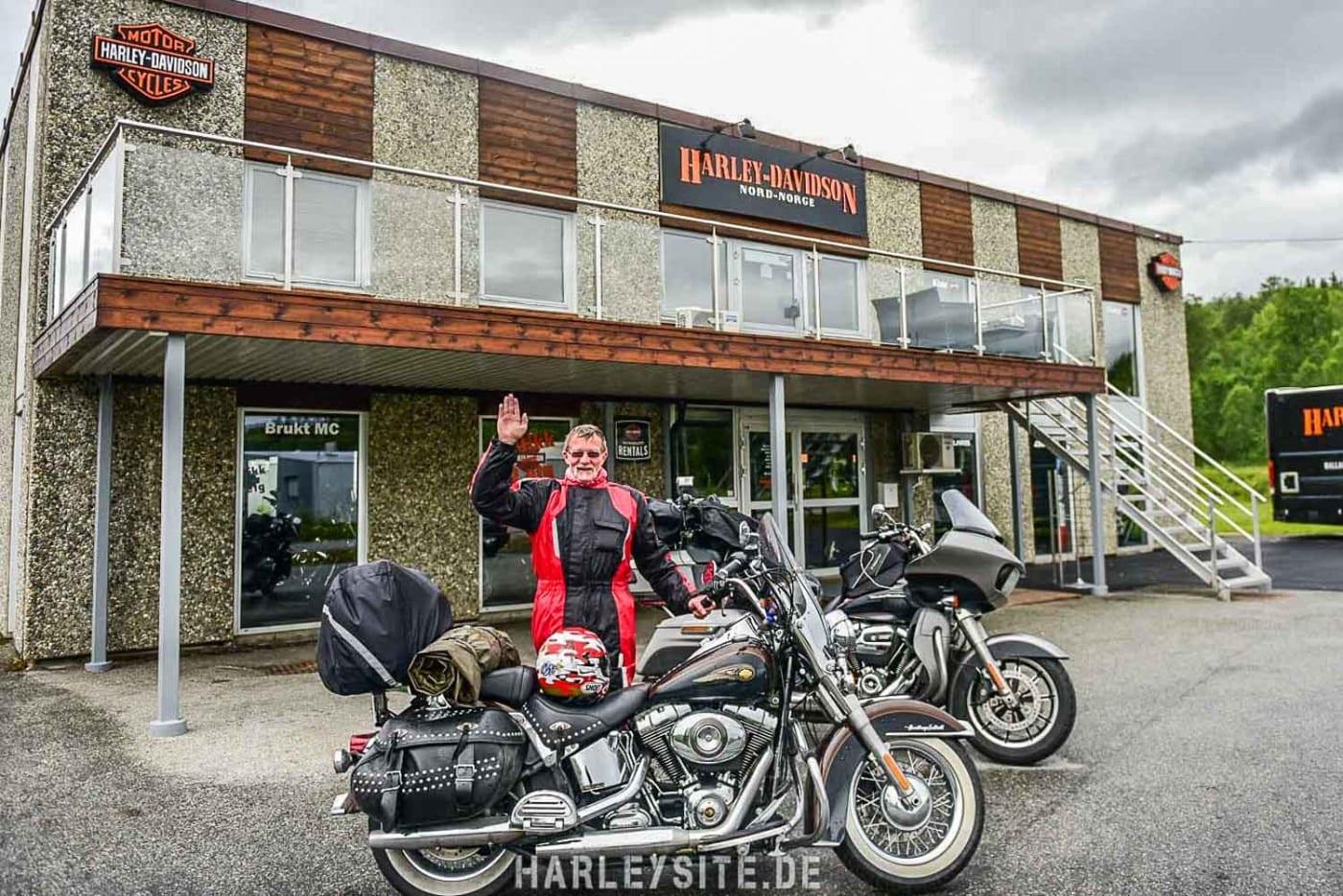 Sepp aus der Schweiz habe ich bei Harley-Davidson North Norge wieder getroffen.